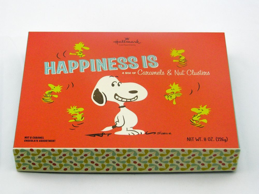 Peanuts Snoopy Happiness Is Asst Caramels And Nut Chocolates