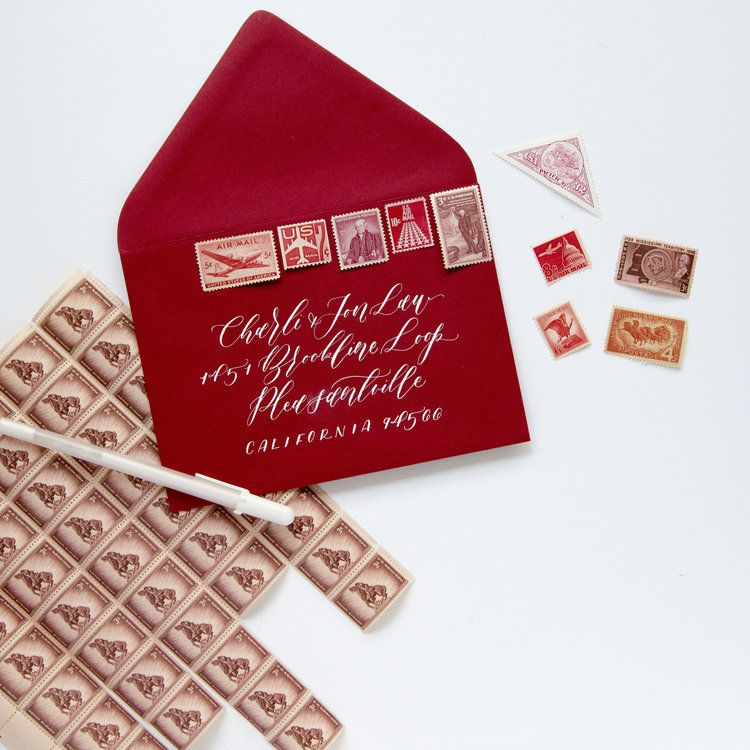 RED Vintage Stamp Set Vintage stamps, Stamp, Stamp set