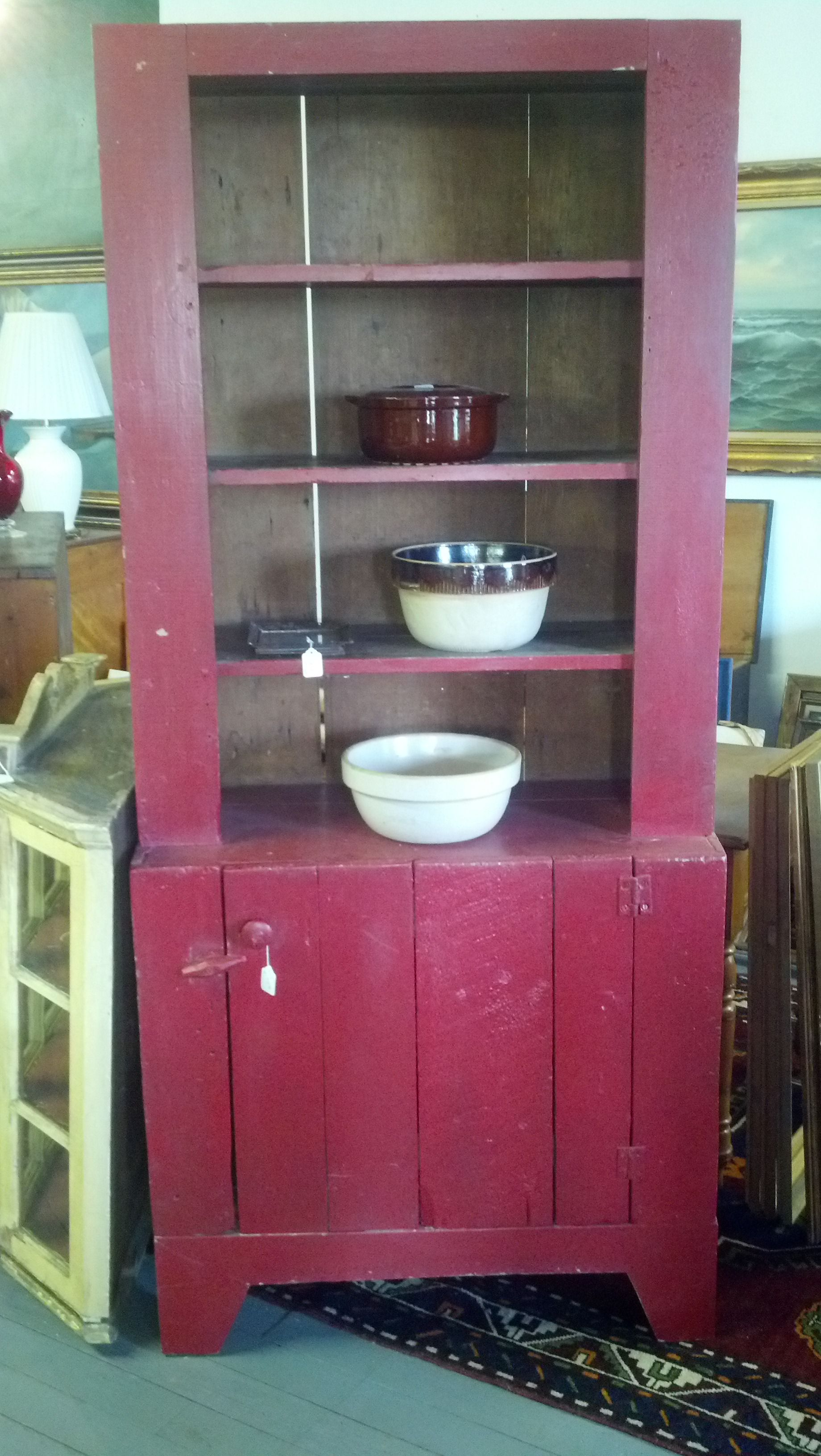 Great color on the early American hutch