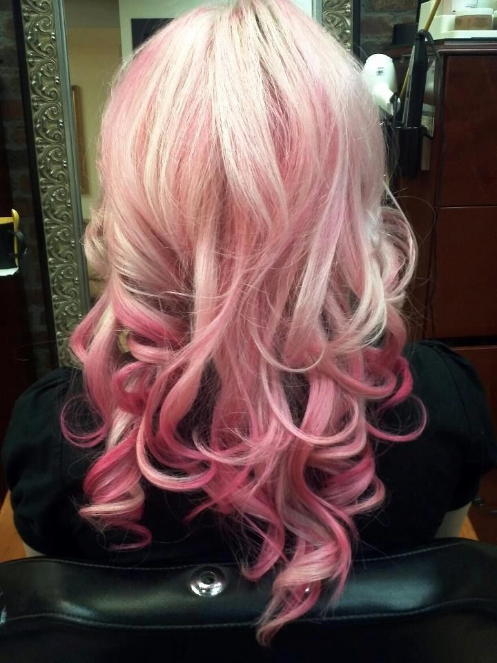 #ombre #pastel #hairstyle #modern #hairdo #curls
