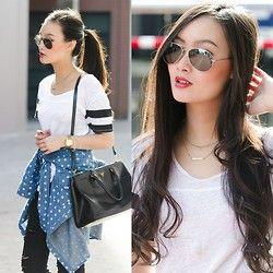 Chicwish Shirt, Prada Bag - DOTS & STRIPES - Levi Nguyen