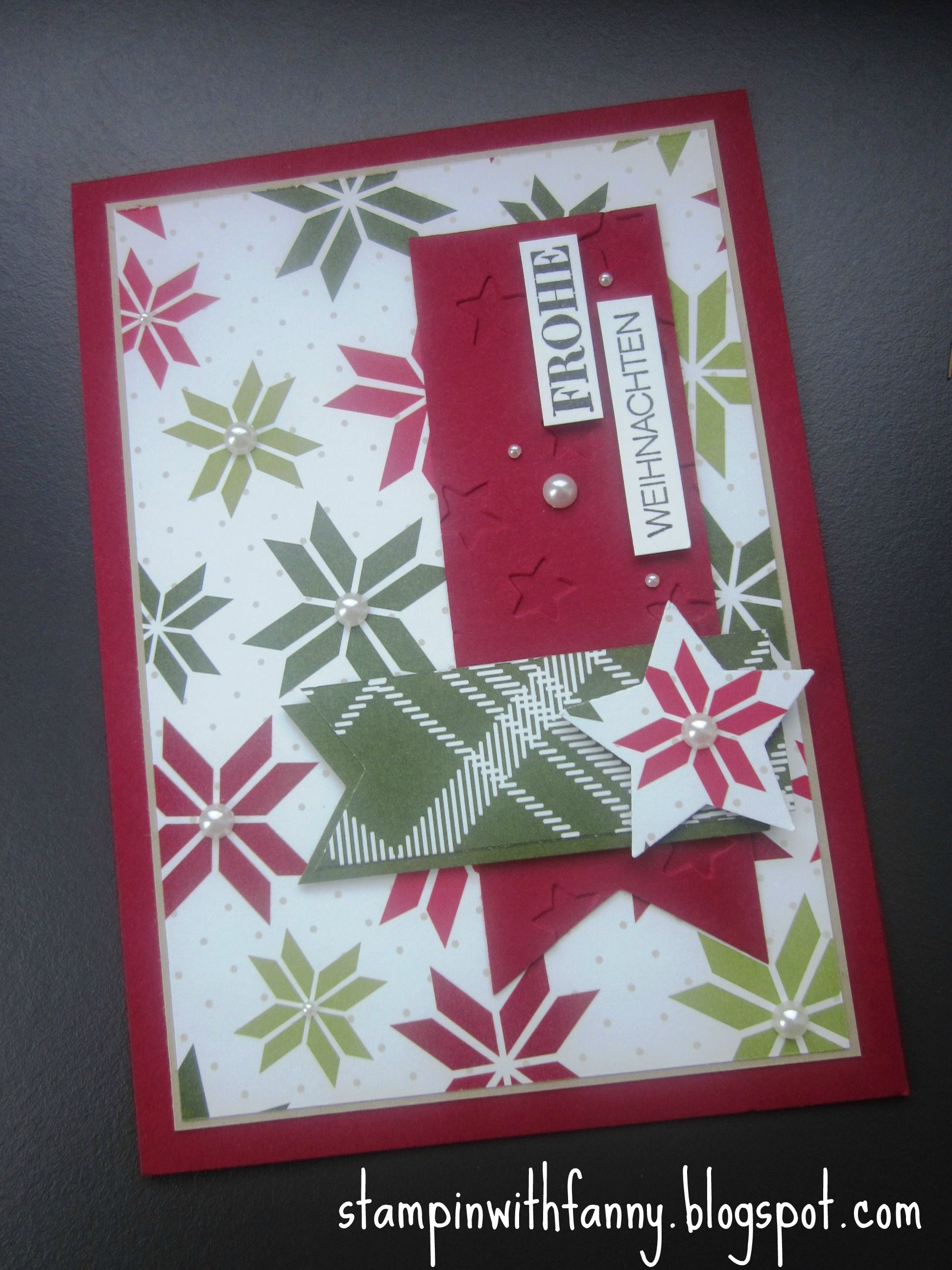 stampin up stampinwithfanny match the sketch weihnachten christmas ...