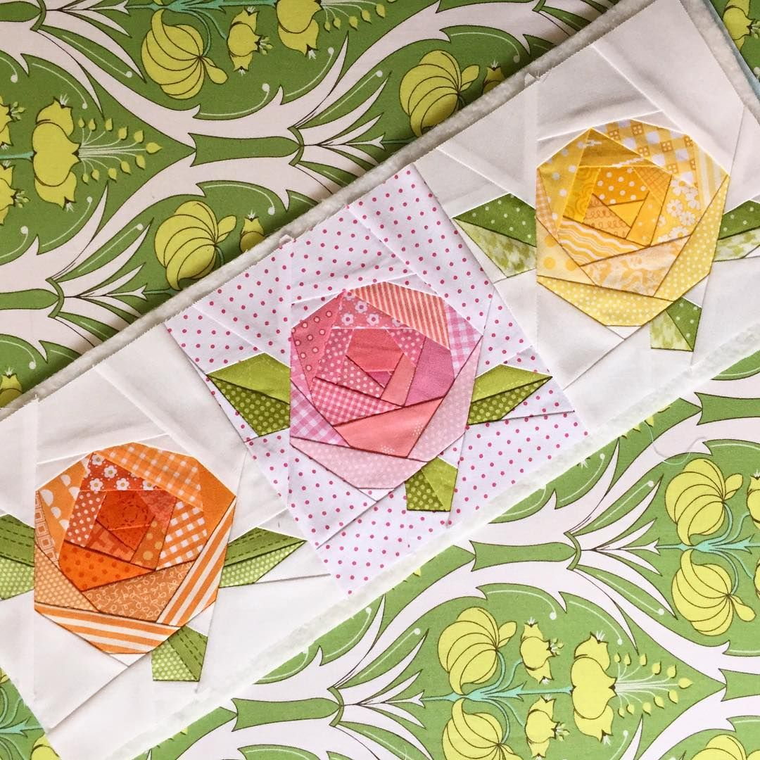 """3/"""" hexagons 40 Spring Delights Fabric Hexagons 10 different designs inc."""