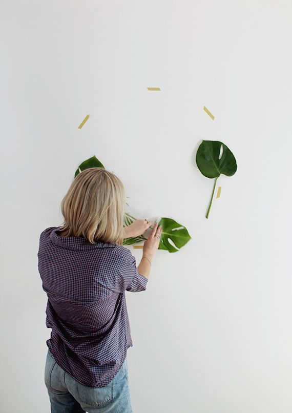 diy leaf backdrop (Almost Makes Perfect)