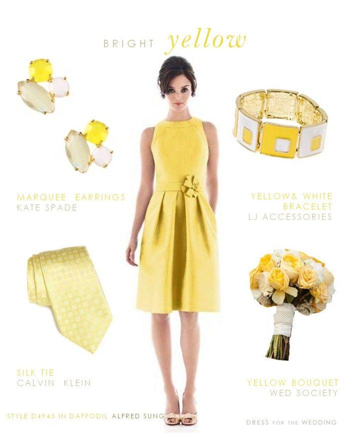 Accessories for lemon yellow dress.