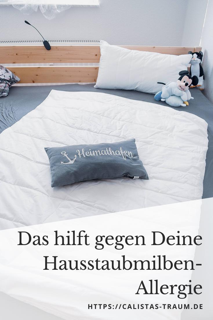 Das Hilft Gegen Deine Hausstaubmilben Allergie Allergoprotect Hausstaubmilben Bett Kissen Und Milben