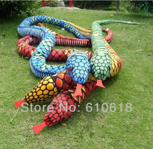 Big Snake Plush Toys Doll Soft White Stuffed Animals Birthday Gift  21x20cm