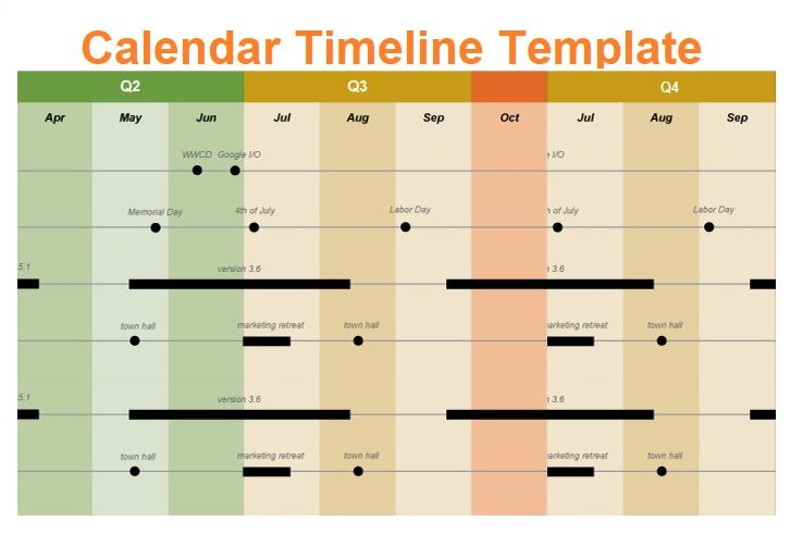 Planning Calendar Templates Excel Business Project Timeline Schedule