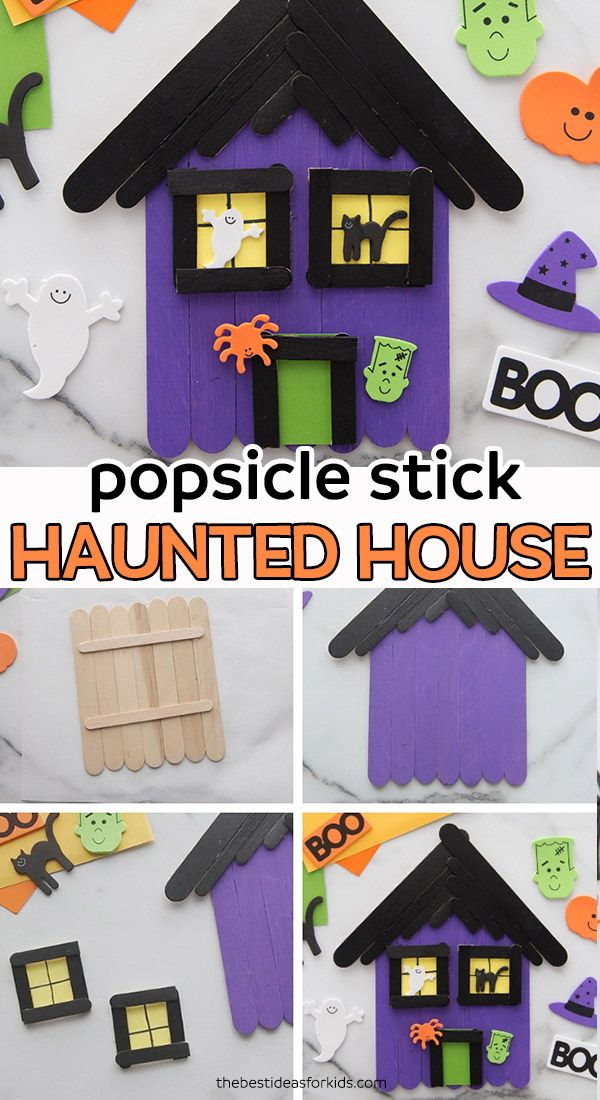 Popsicle Stick Haunted House Craft - The Best Ideas for Kids