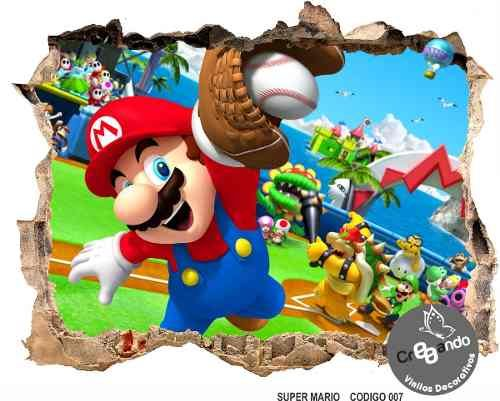 Melinterest Colombia Super Mario Bross Fotomural 3d Adhesivos