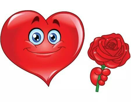 Red heart smile rose