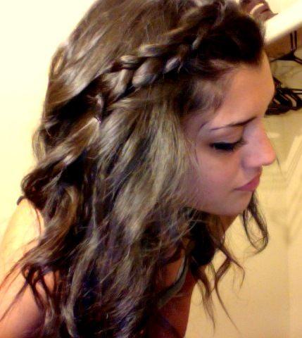 Curls with braid