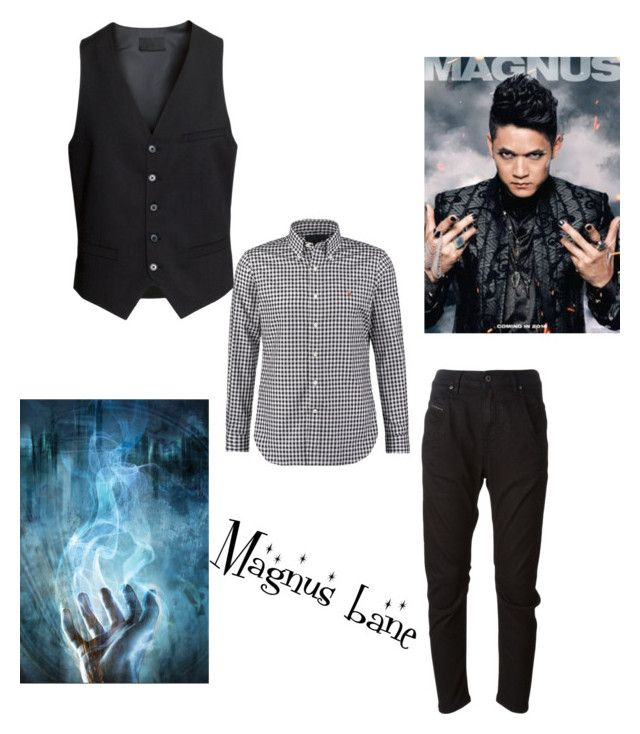 """""""Magnus bane"""" by jacieschultz ❤ liked on Polyvore featuring beauty, H&M and Diesel"""