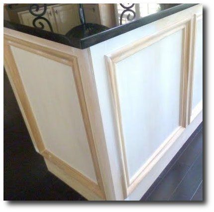 Add Moulding To Dress Up Builder Grade Cabinets Kitchen
