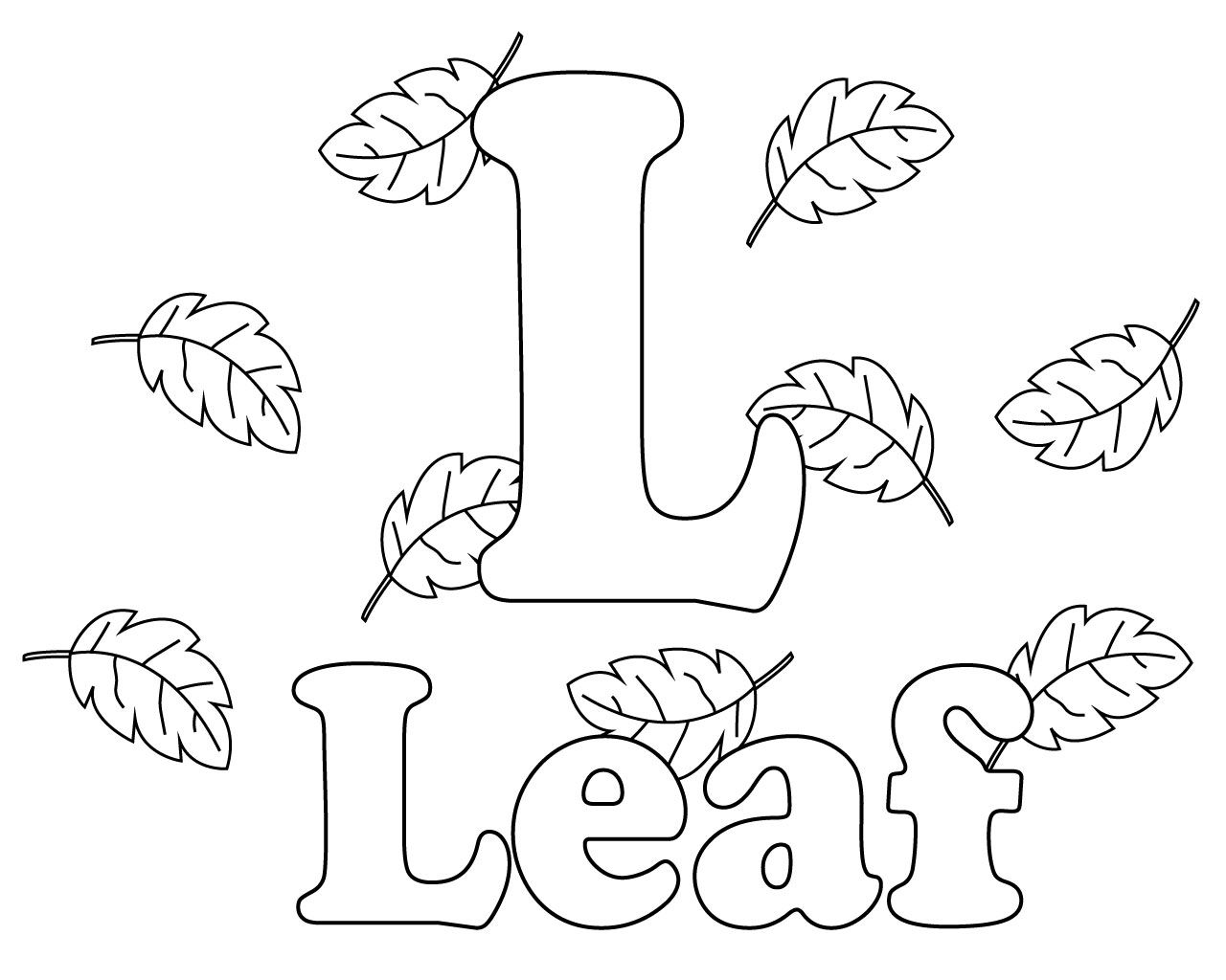 Free Printable Letter L Coloring Pages