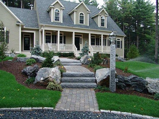ledge rock granite steps pavers