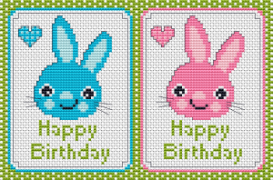 Happy Birthday Boy/Girl free cross stitch pattern