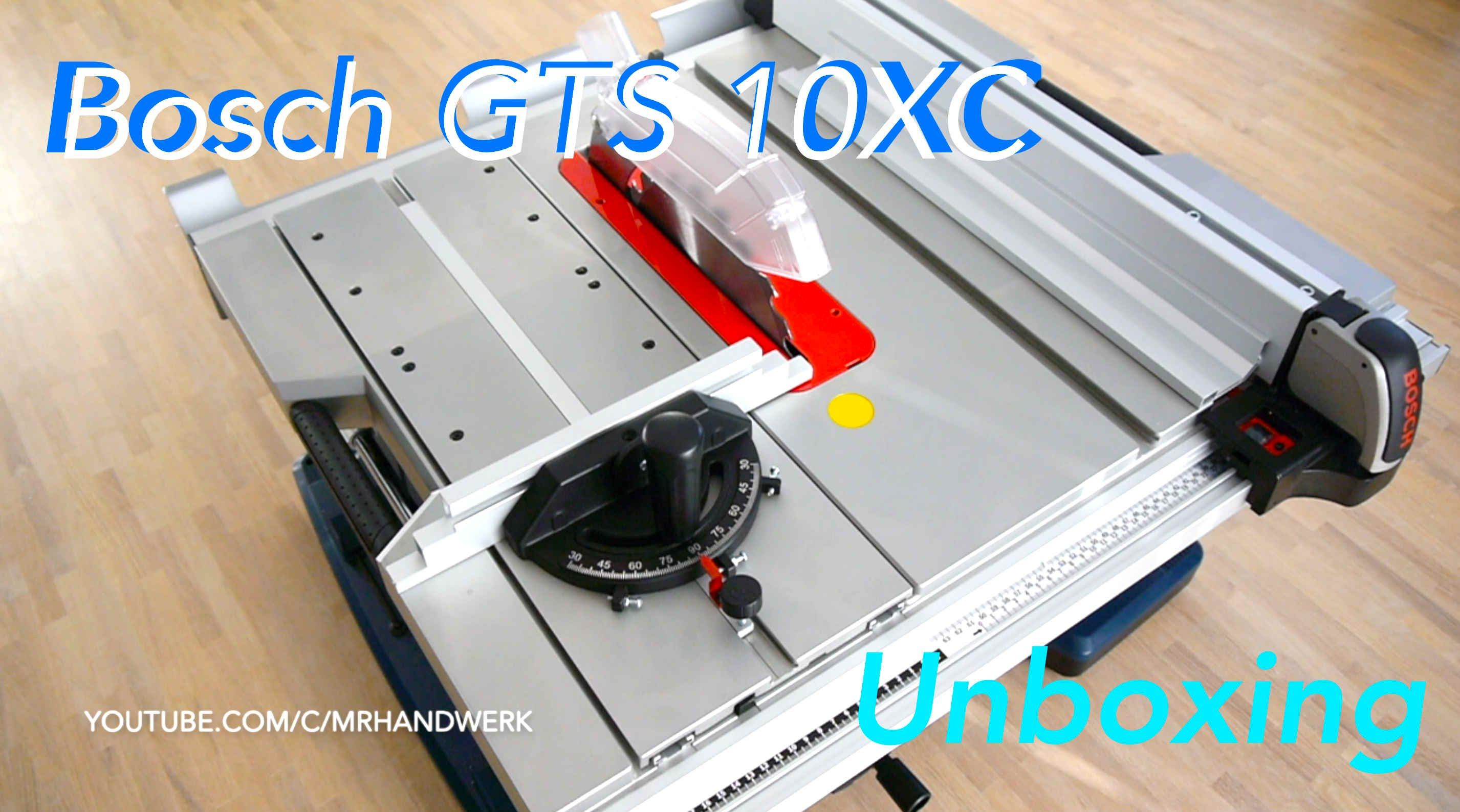 unboxing bosch gts 10 xc professional german / meine erste