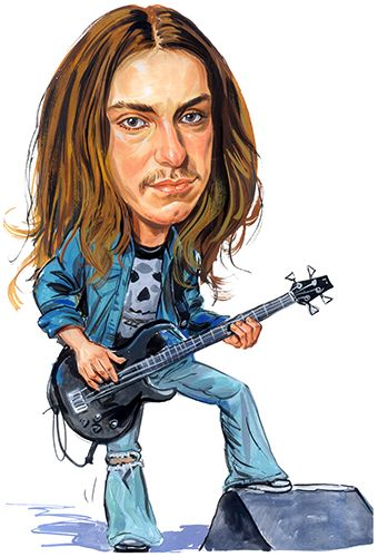 Cliff Burton of Metallica ...artwork by ExaggerArt http://exagger-art.artistwebsites.com/