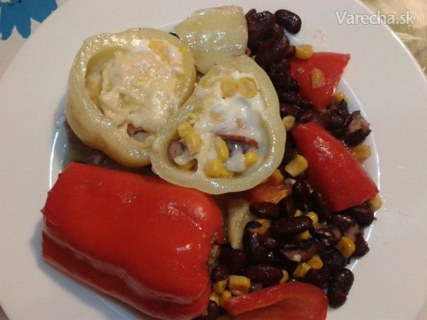 Paprika čerstvá plnená a zapečená (fotorecept) - Recept