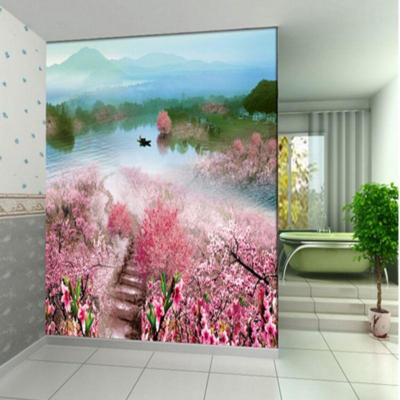 Rom ntico jard n 3d murales de pared decoraci n de la boda - Paredes en 3d decoracion ...