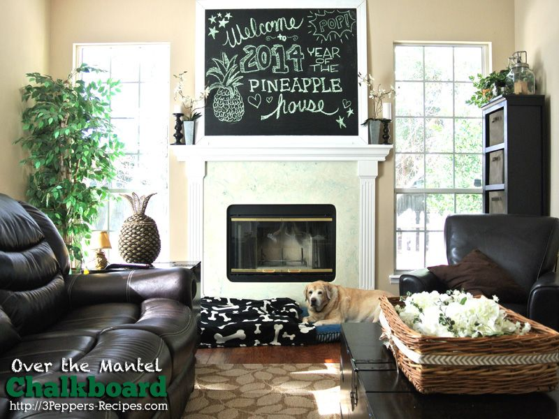 Charming FIREPLACE AND WINDOWS Over The Mantel Chalkboard
