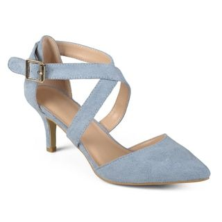 014eb19793e5 Shop for Journee Collection Women s  Dara  Faux Suede Cross Strap High  Heels. Get