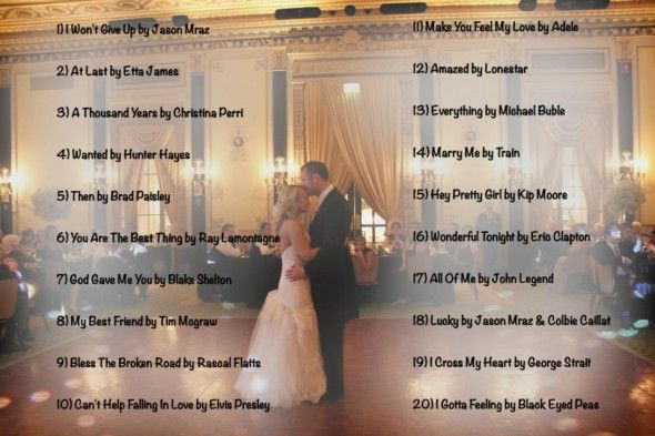 Wedding Music List Top 20 First Dance Songs Of 2013 What We Do