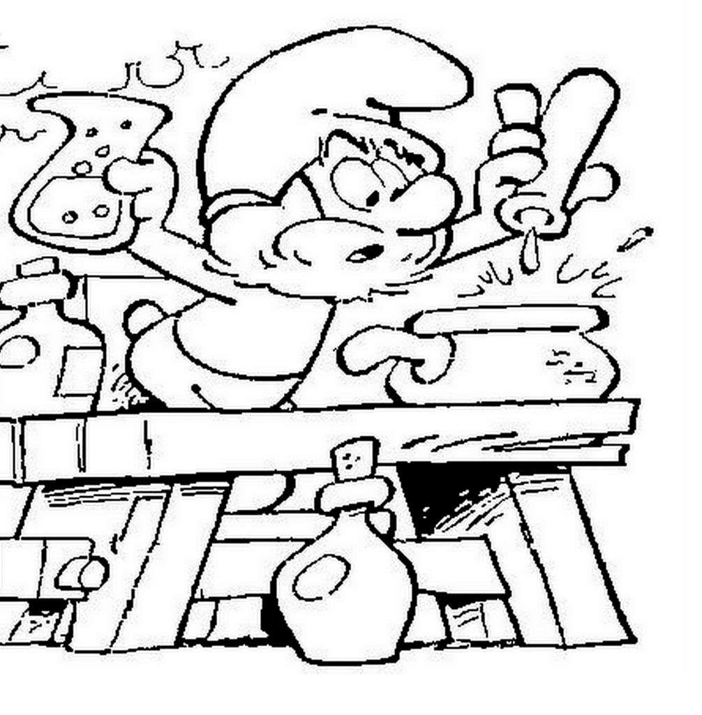 jeux de coloriage les schtroumpfs  Cartoon coloring pages