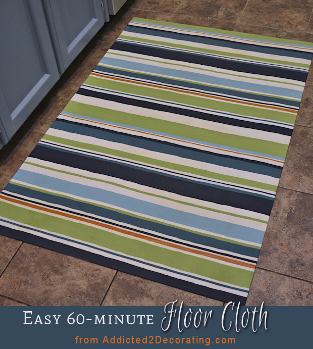 Painted Kitchen Floor Cloth: DIY: Make An Easy Floor Cloth In 60 Minutes Or Less