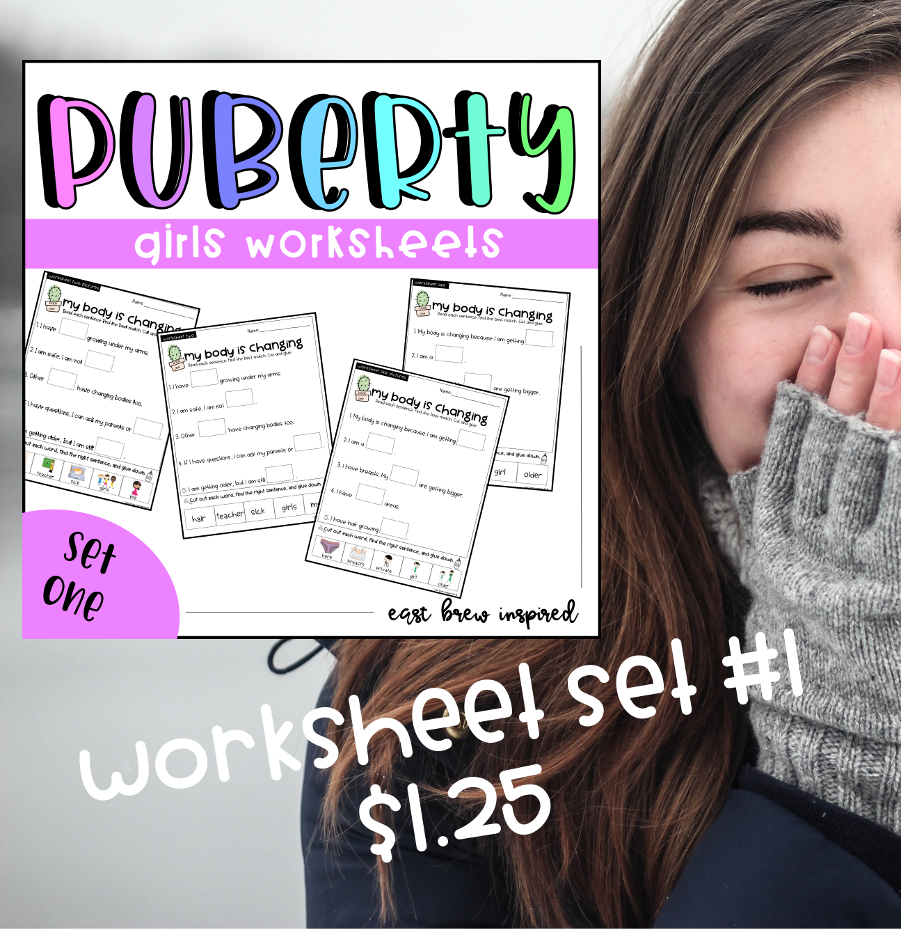 Puberty My Body Is Changing Girls Worksheet Set 1