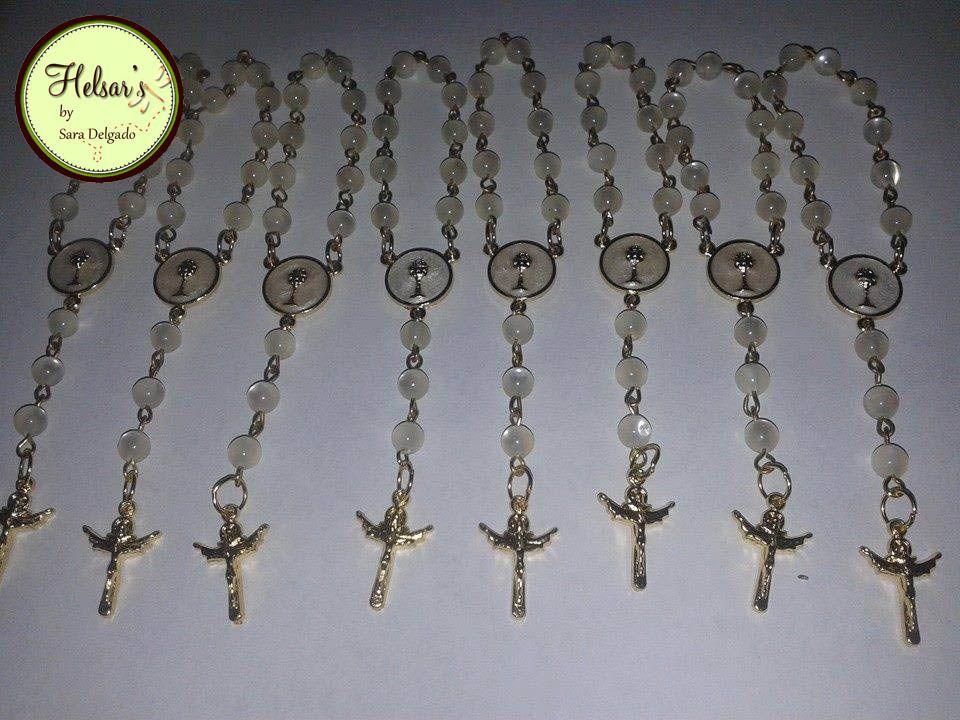 recuerdos para primera comunion rosarios