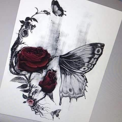 Bildresultat For Half Butterfly Half Skull Tattoo Tattoos Sleeve Tattoos Body Art Tattoos