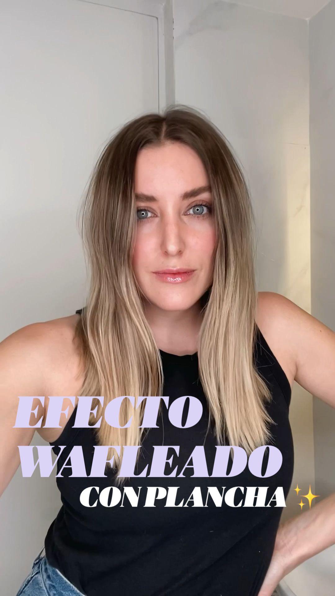 TUTORIAL PEINADO CON EFECTO WAFLEADO