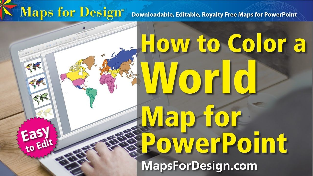 How To Color A World Projection Map To Make Sales Presentation
