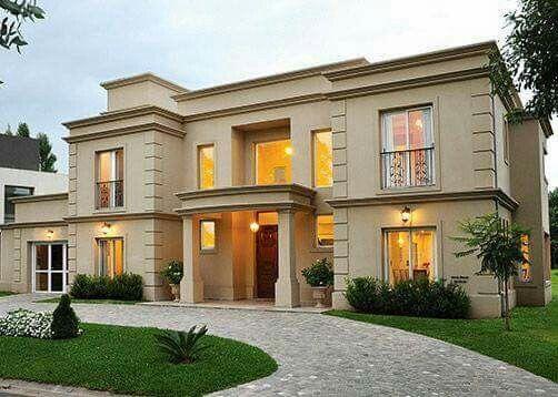 Pin de rosy dew en home ideas pinterest fachadas casas y fachadas de edificios - Casas clasicas ...