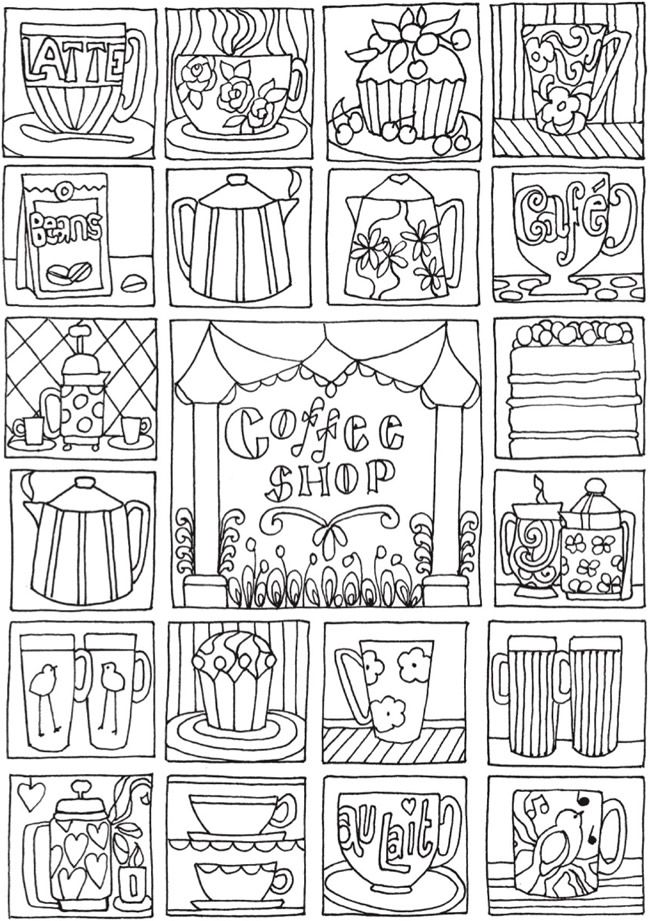 BLISS Shop Coloring Book : Your Passport to Calm | Dover ...