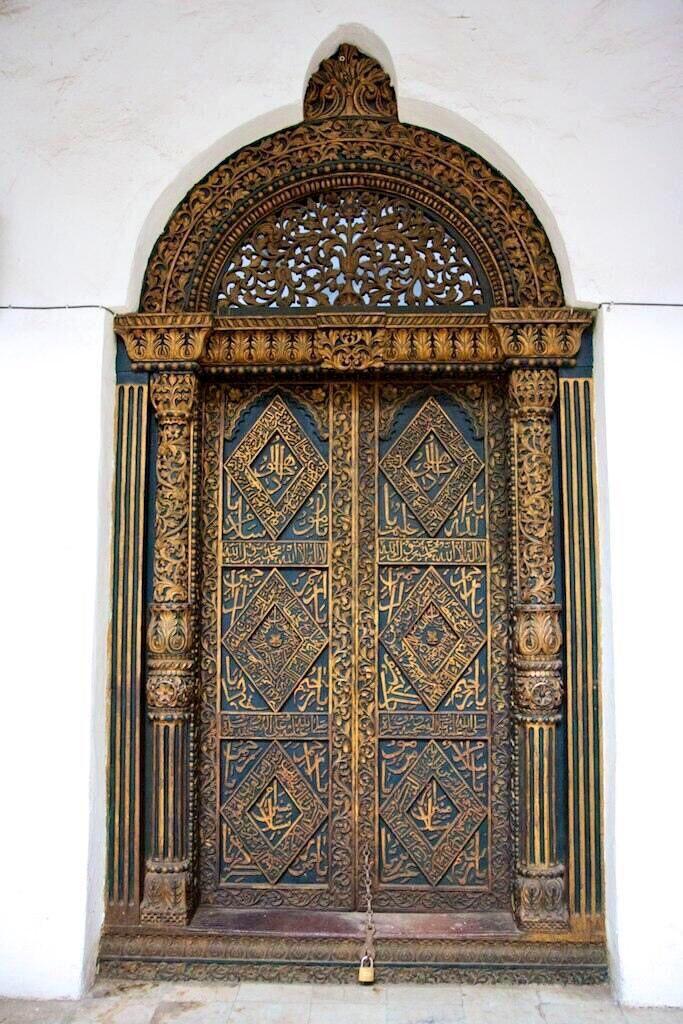 Masjid Door with Beautiful Arabic Detail Zanzibar. #architecture #africa & Muslim Culture on | Doors and Architecture