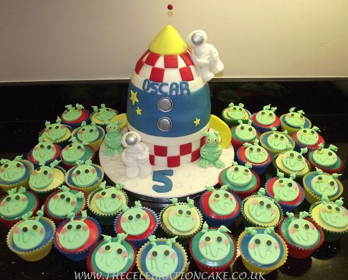 rocket ship cake option Parties Pinterest Rocket ship cakes