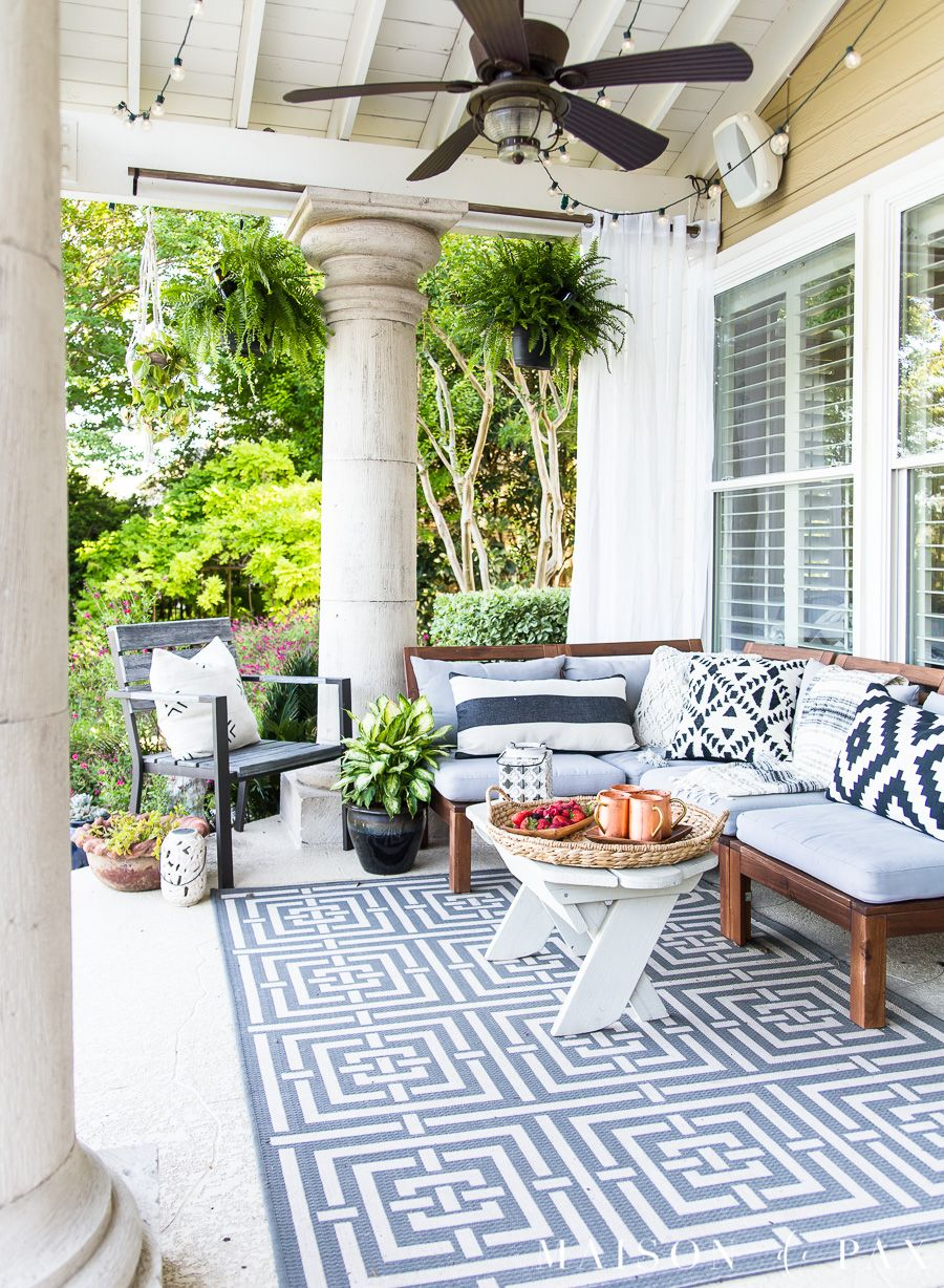 Summer Porch Decor Ideas Ferns And Succulents Outdoor