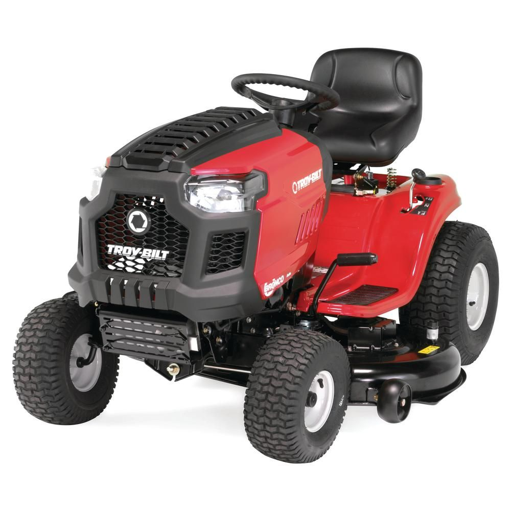 Troy Bilt Bronco 46 In 679 Cc V Twin Ohv Engine Automatic Drive Gas Lawn Tractor Riding Mower With Mow In Reverse Bronco 46t Riding Lawn Mowers Riding Mower Lawn Mower