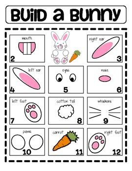 Build a Bunny Addition or Subtraction Math Game Worksheet ...