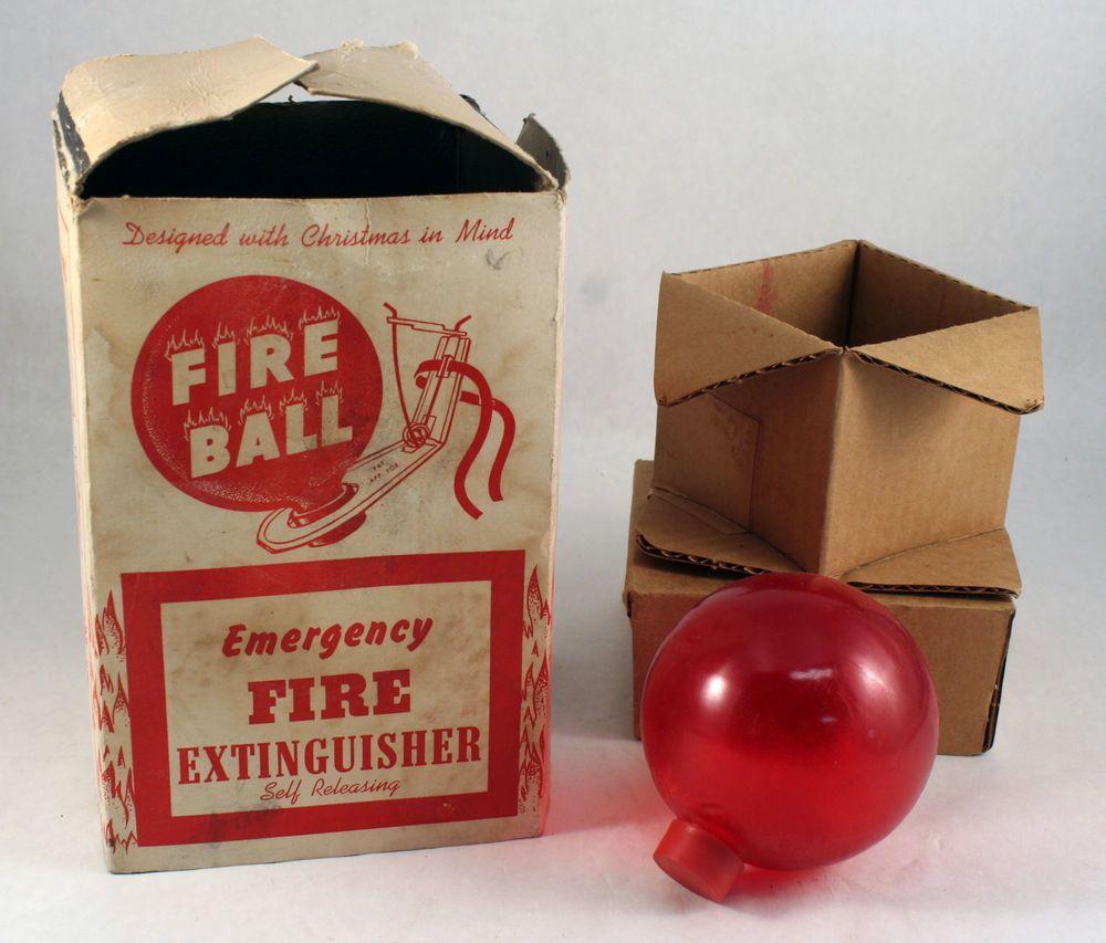 Vintage USA PA Fire Ball Grenade Emergency Fire
