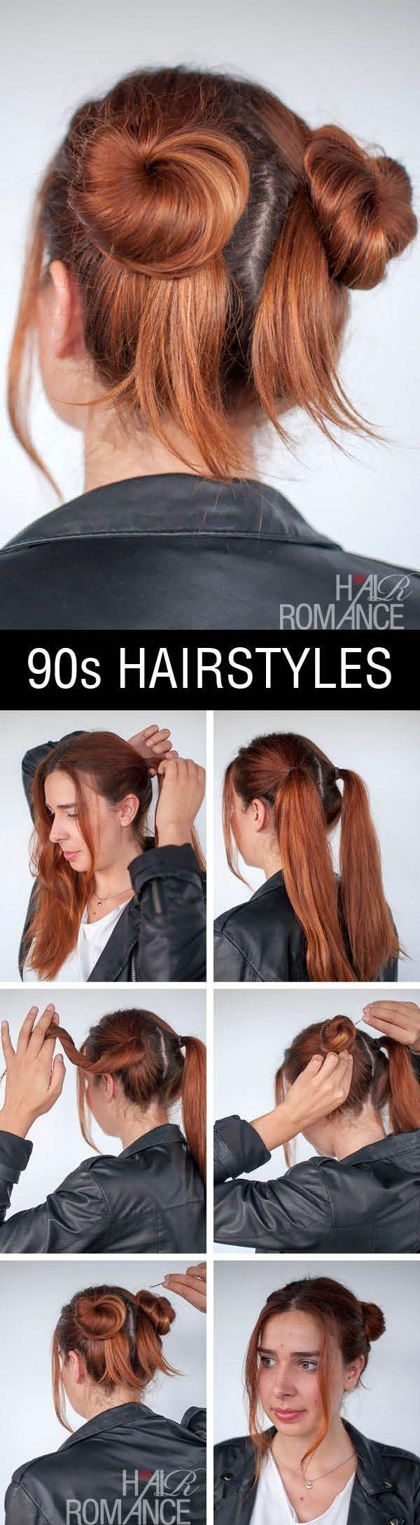 cute u easy bun hairstyles for long hair and medium hair