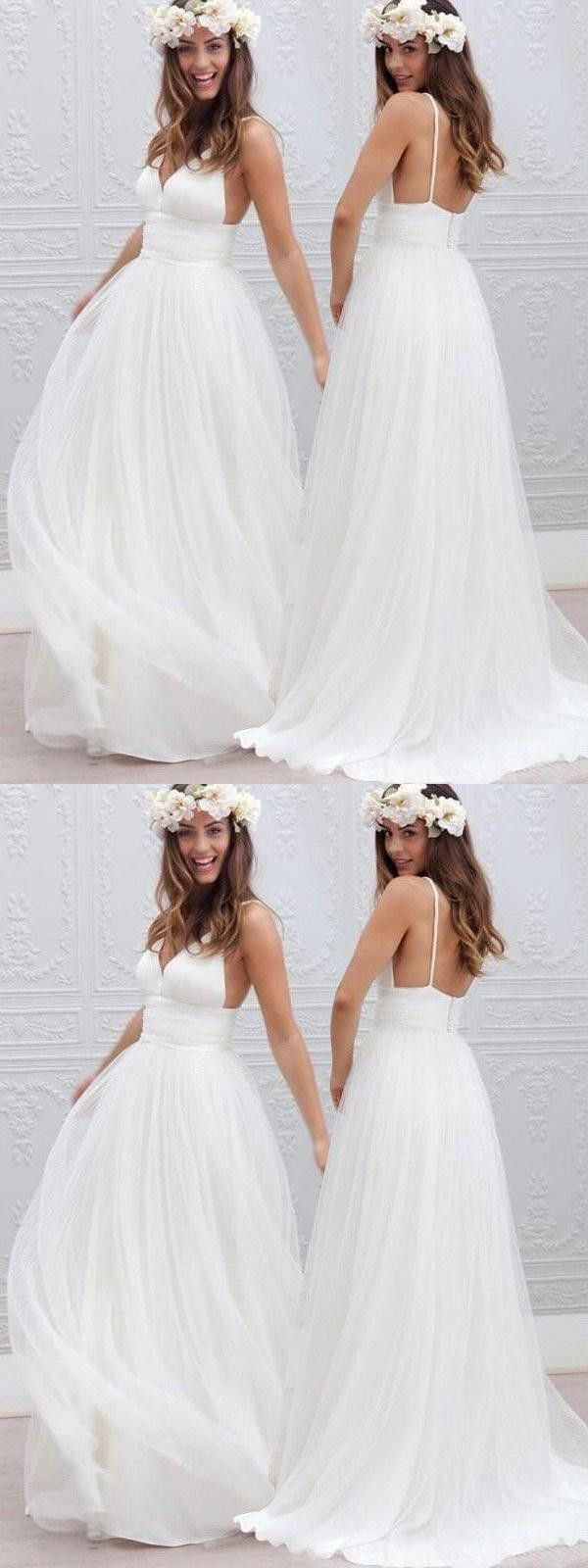Chic Vintage Wedding Dress Ivory Cheap Wedding Dress # VB2233 ...