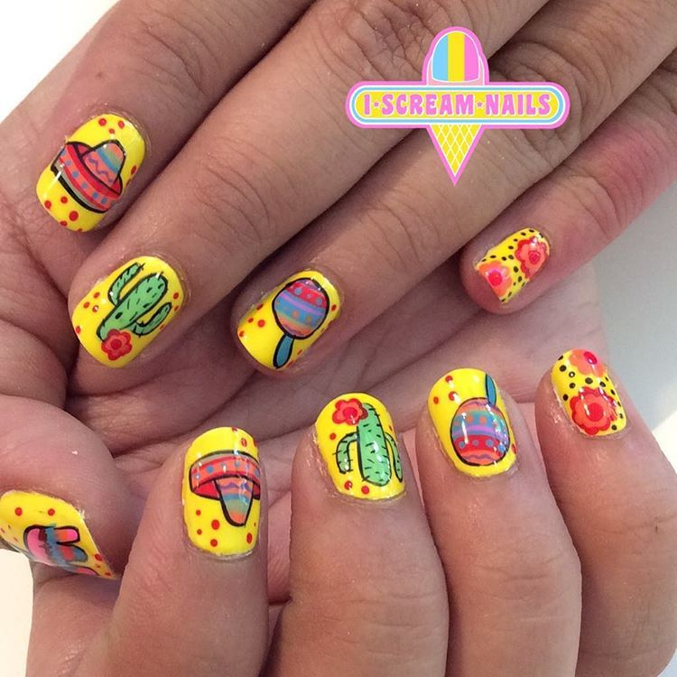 Viva Mexico! Nail art for Cinco de Mayo - - NAILS Magazine   Uñas ...
