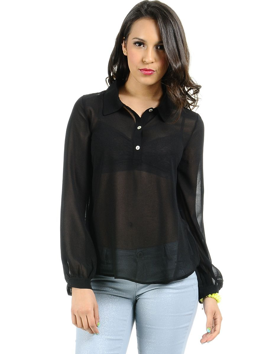 These women and men longsleeve shirts are made of a see through nylon fabric in soft microfiber quality. Like a pantyhose these tops do adapt to the body with a tight fit like a second skin. Wear these sheer shirts with lingerie or in combination with a plunging neck dress or top. Wear it as an undershirt with a warming effect.