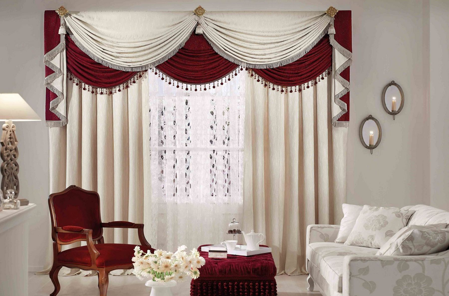 12 Beautiful Curtain Ideas For The Living Room To Be More Charming Curtaindecoration Curta Curtains Living Room Valances For Living Room Living Room Designs