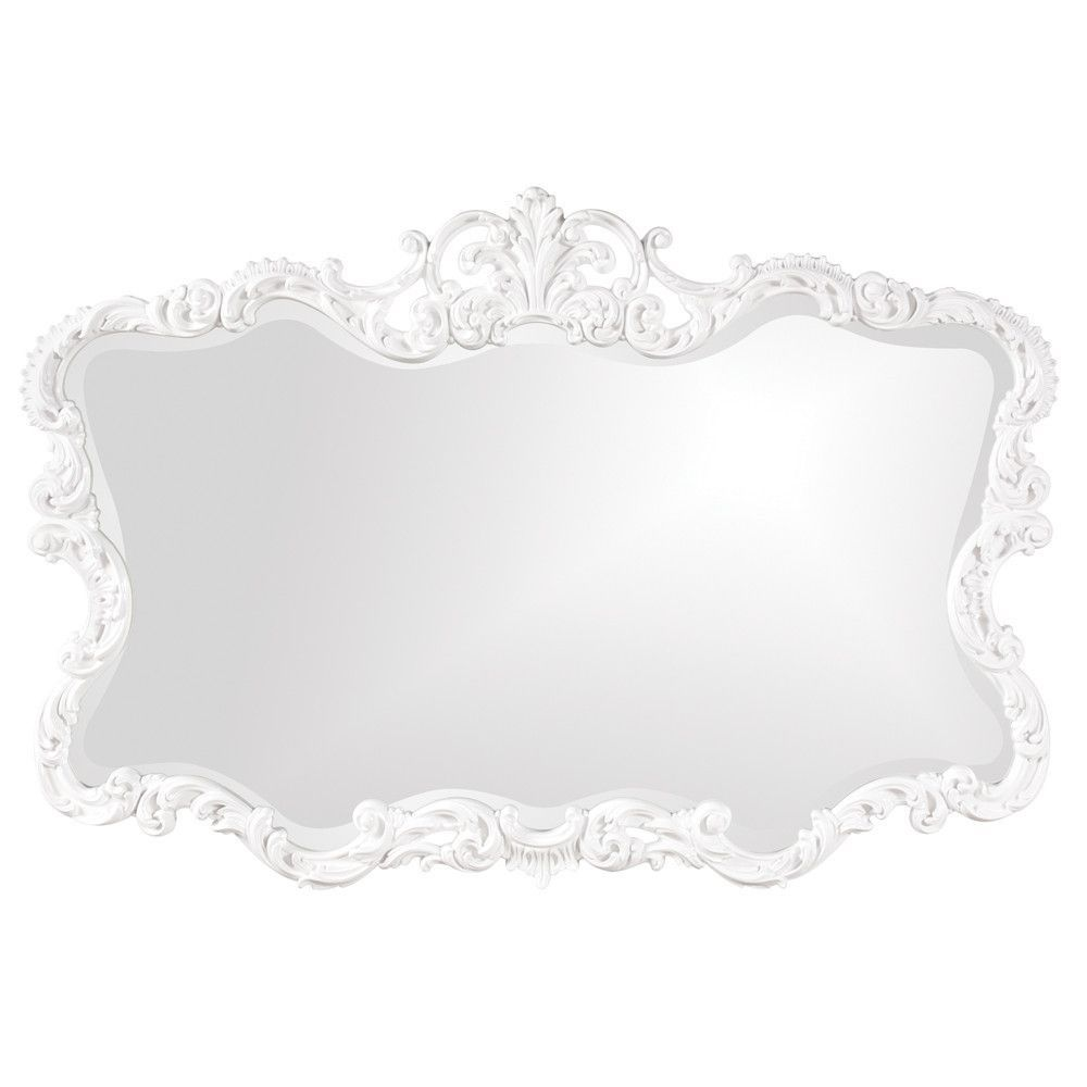 Howard elliott talida white mirror 27 x 38 x 1 wall mirror howard elliott talida white mirror 27 x 38 amipublicfo Gallery