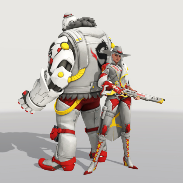 File Ashe Skin Dragons Away Png Overwatch Wiki Overwatch Character Superhero